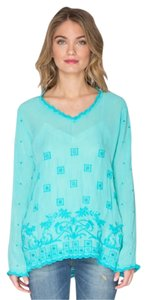 Johnny Was V-neck Longsleeve Embroidered Tunic