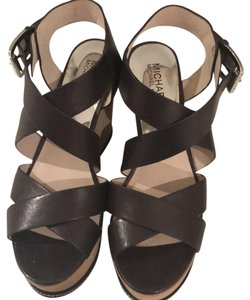 MICHAEL Michael Kors Brown Wedges