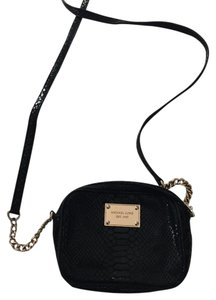 Michael Kors Snakeskin Leather Cross Body Bag