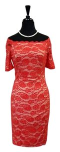 Nikibiki short dress Red lace with illusion look on Tradesy