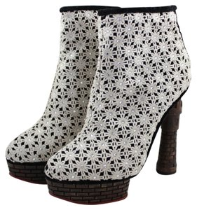 Charlotte Olympia Damsel In Distress Cream Boots