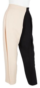 Chloé Wide Leg Pants Tan & Black