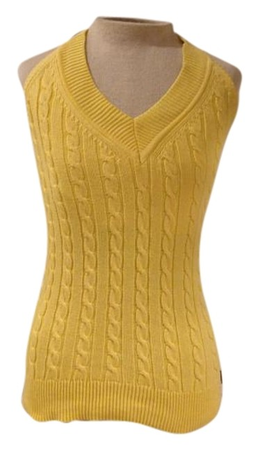 Item - Yellow Cable Knit Halter Top Size 8 (M)