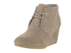 TOMS Wedge Desert Taupe Distressed Boots