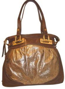 B. Makowsky New X-lg Leather Lined Hobo Bag