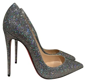 Christian Louboutin Sokate Kate Glitter Stiletto silver Pumps