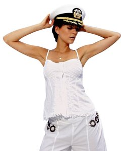 Lirome Summer Nautical Cozy Beach Top Black