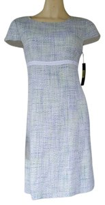 Alex Marie Woven Career Green Blue Dress