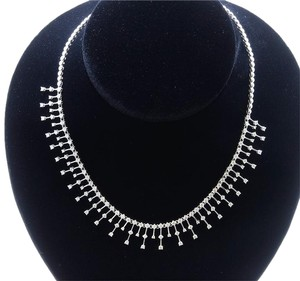Dignity Jewels 18K White Gold Necklace/Diamond- 6.64ct/Gold- 28.67 Grams
