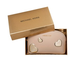 Michael Kors BOX MICHAEL KORS PEEK A BOO LG TRAVEL POUCH COSMETIC BAG CLUTCH PINK