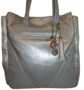 Vince Camuto Refurbished Leather Tote in Grey