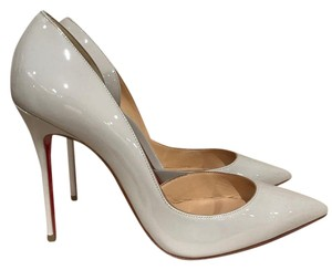 Christian Louboutin Iriza Stiletto Patent Wedding Cut-out grey Pumps