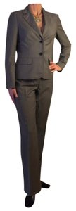 Anne Klein SZ 8-ANNE KLEIN 2 PIECE GRAY PIN STRIPED PANTS SUIT