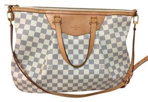 Louis Vuitton Damier Hampstead Mm Canvas Satchel in white