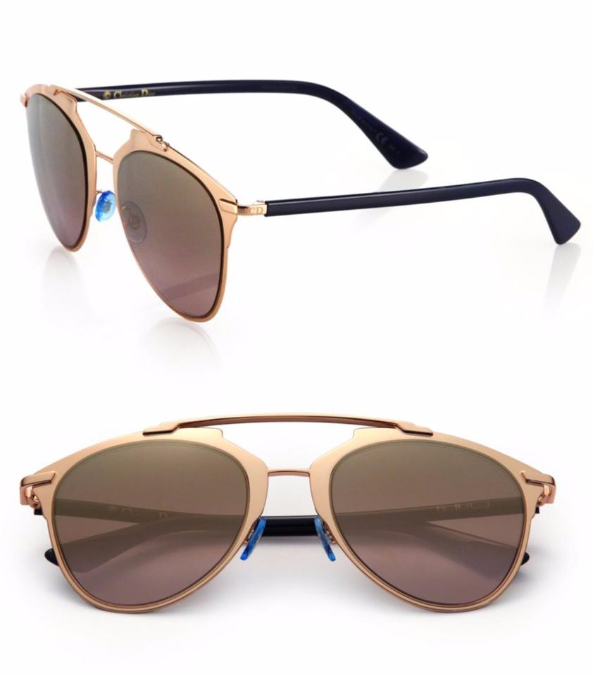 246de6fce94 Dior Reflected 52MM Mirror Aviator Sunglasses Rose Gold Gold Shaded Mirror  Image 0 ...