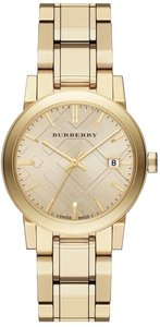 Burberry Burberry Light Champagne Dial Light Gold-tone Ladies Watch BU9134