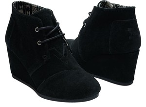03900b61147 TOMS Black Desert Wedge In Suede Boots Booties Size US 10 Regular (M ...