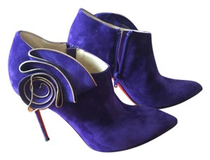 Christian Louboutin Suede Purple Boots