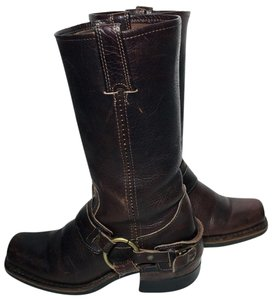 Frye 77250 Belted Motorcycle 5.5 Motorcycle 5.5 Women Size 5.5 Brown Boots