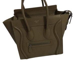 Céline New Lambskin Love Calfskin Tote in Souris