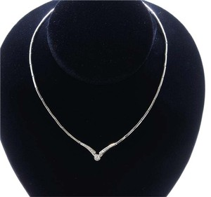 Dignity Jewels 18K White Gold Necklace/Diamond- 0.39ct/Gold- 22 Grams