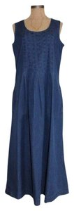BLUE Maxi Dress by Talbots Maxi Denim Denim