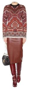 Tory Burch Winter Fall Wool Aztec Sweater