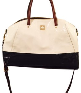 Kate Spade Black/Ivory/Brown Travel Bag