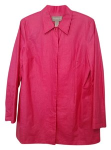 Liz Claiborne Coated Linen Pink Jacket