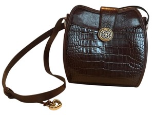 Brighton Croc Leather Shoulder Bag