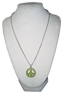 Handmade Handmade Lime Green Peace Sign Stainless Steel 18