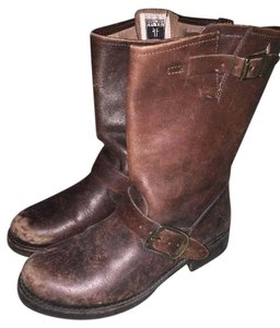 Frye Leather Short Brown Boots