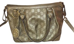 Gucci Satchel in Champagne/light Gold