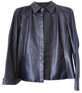 Apostrophe Leather Black Blazer