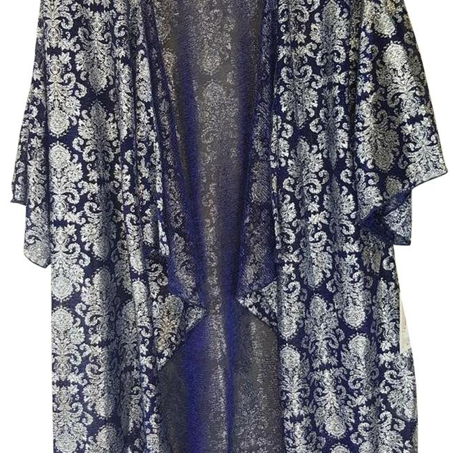 Item - Blue and Silver W Small Elegance W/ Design Tunic Size 6 (S)