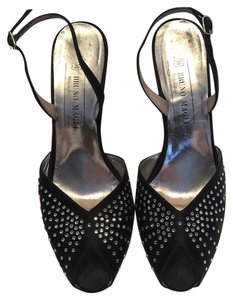 Bruno Magli Black & Rhinestone Formal