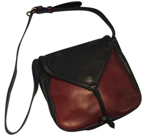 Fred Eisen Shoulder Brown & Black Messenger Bag