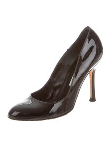 Brian Atwood Designer Gloss Black Pumps