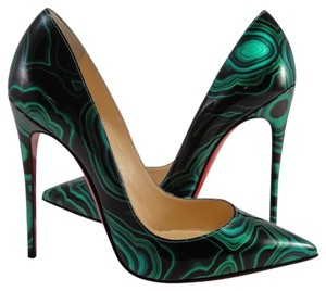Christian Louboutin Sokate Kate Stiletto Patent green Pumps