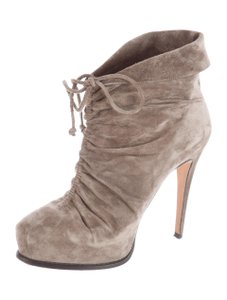 Brian Atwood Suede Suede Grey Boots