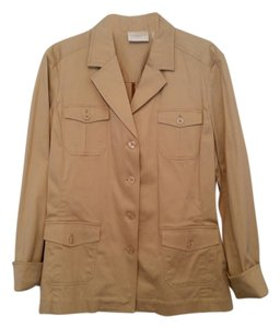 Liz Claiborne Cotton Stretch Khaki Blazer