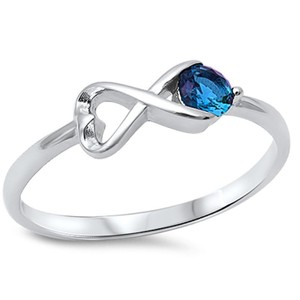 9.2.5 Adorable blue sapphire infinity knot ring size 7