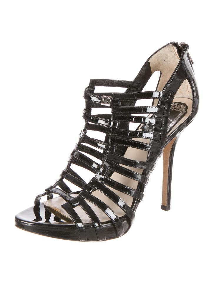 4e9c5f1e6cfe Dior Black Gladiator Strappy Caged Sandals Size US 7 Regular (M