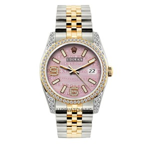 Rolex 36MM ROLEX DATEJUST 2-TONE DIAMOND WATCH WITH ROLEX BOX & APPRAISAL