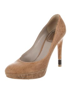 Dior Nude Leather Heels Vintage Tan Pumps