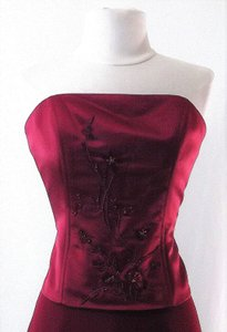 Venus Bridal Burgundy Style X007 Dress