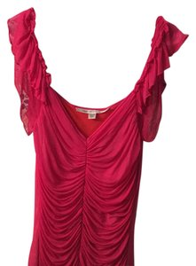 Diane von Furstenberg Top Hot pink with orange underlay
