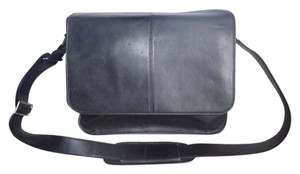 Levenger Black Messenger Bag