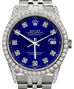 Rolex 36MM ROLEX DATEJUST 2.5CT DIAMOND WATCH WITH ROLEX BOX AND APPRAISAL
