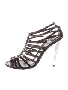 Dolce&Gabbana Gladiator D&g Dolce And Gabbana Strappy Heels Strappy Black Sandals